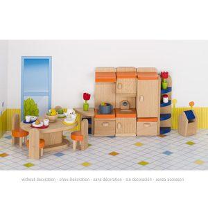Drveni namještaj za kućicu za lutke – Kuhinja