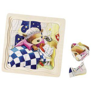 Drvene puzzle za djecu - Medo